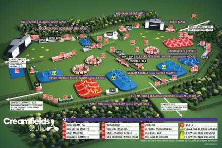 creamfields 2013 map